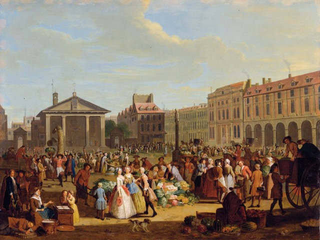 Covent Garden Market (1726), Pieter Angillis from the Yale Center for British Art, Paul Mellon Collection