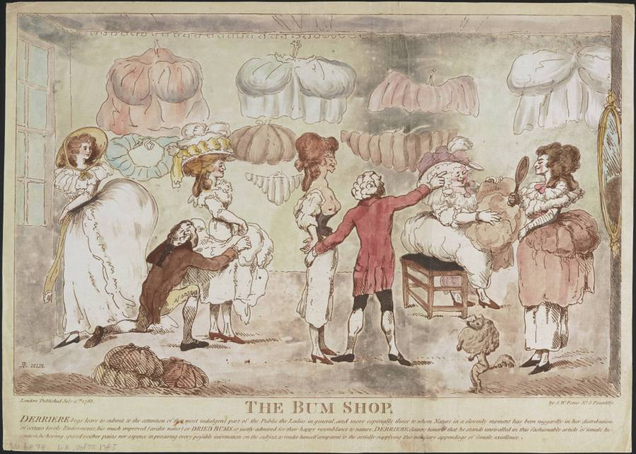 The Bum Shop, 1785 Lewis Walpole Library
