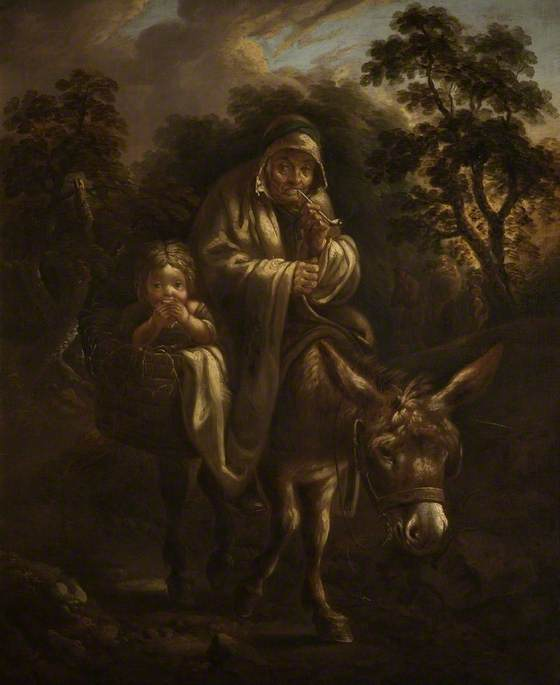 Travelling Gypsies by Thomas Barker c.1787 (c) The Holburne Museum; Supplied by The Public Catalogue Foundation
