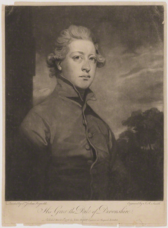 NPG D1752; William Cavendish, 5th Duke of Devonshire by John Raphael Smith, after Sir Joshua Reynolds