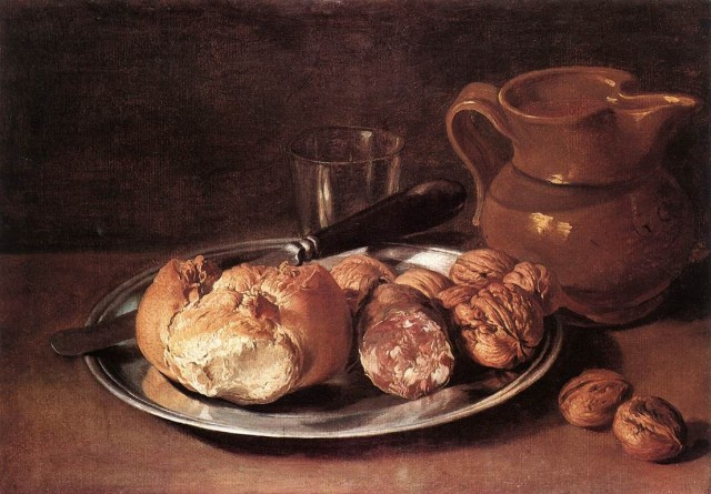 Still life with Bread by Ceruti 1750