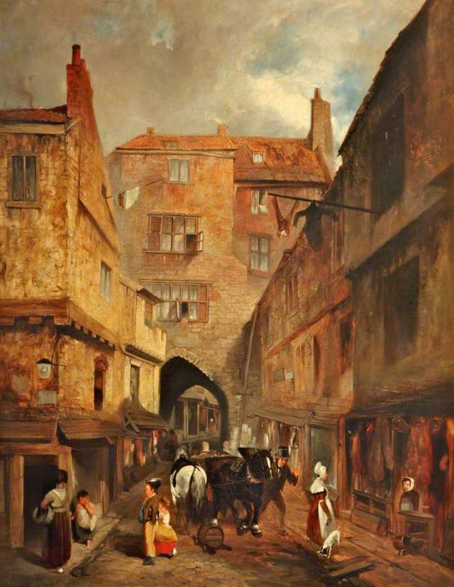 The Black Gate, Newcastle Upon Tyne by George Balmer (attributed to). (c) Lady Lever Art Gallery; Supplied by The Public Catalogue Foundation