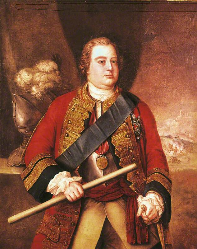 The Duke of Cumberland (1721–1765) by Stephen Slaughter (attributed to), c.1750. (c) Royal Armouries Museum, Leeds; Supplied by The Public Catalogue Foundation