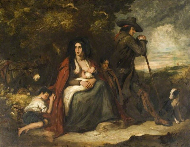 The Gypsies by William Simpson (c) Dumfries and Galloway Council (Kirkcudbright); Supplied by The Public Catalogue Foundation