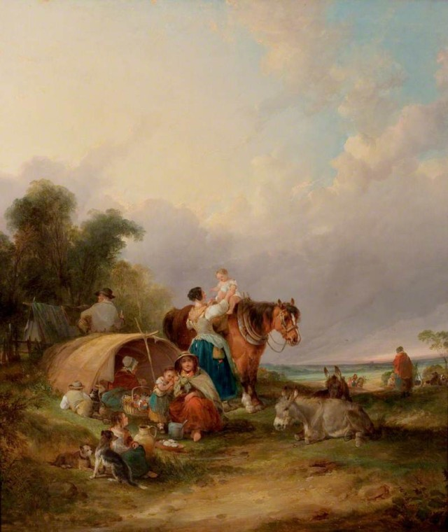 A Gypsy Encampment by William Shayer (c) Nottingham City Museums and Galleries; Supplied by The Public Catalogue Foundation