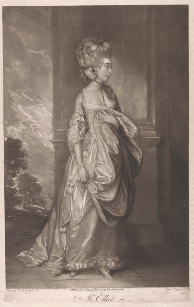 John Dean, 1754–1798, British, Mrs. Elliot, 1779, Mezzotint, Yale Center for British Art, Paul Mellon Fund