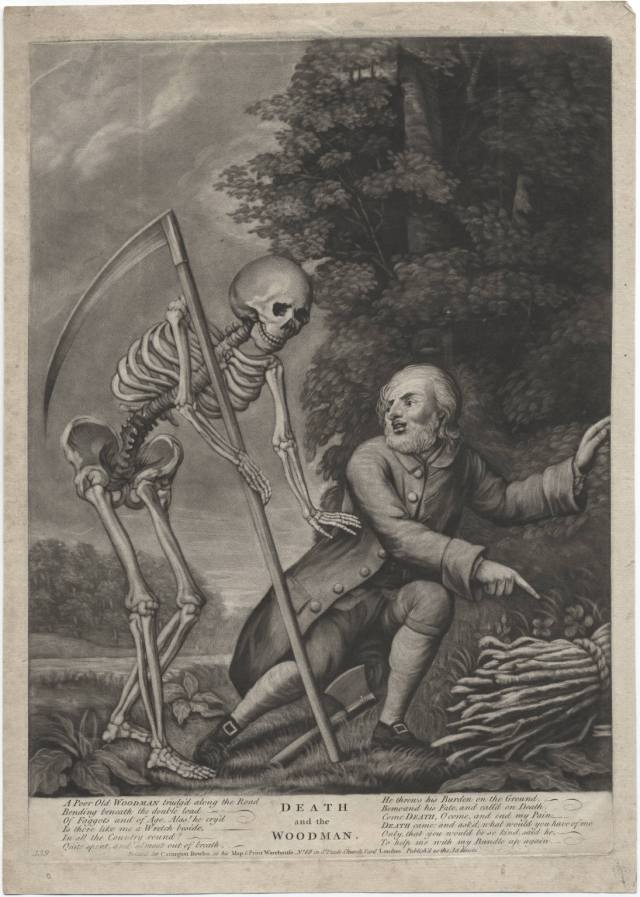 Death and the Woodman Courtesy of Lewis Walpole Library