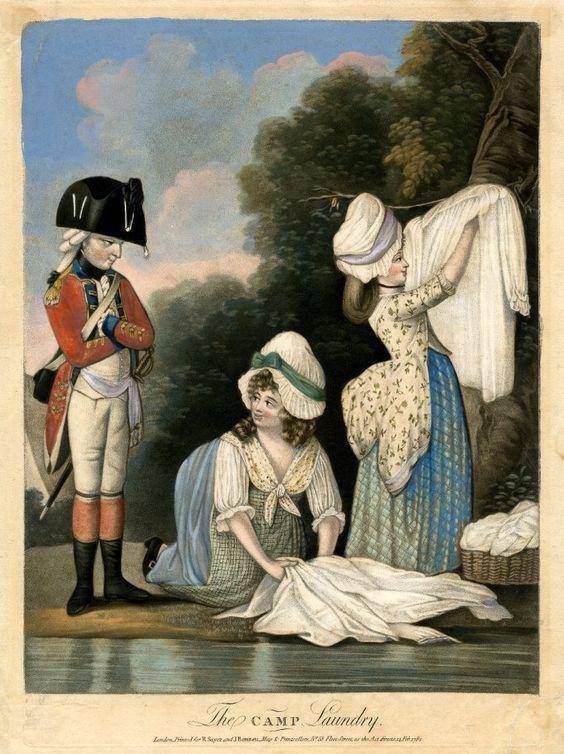 The Camp Laundry, 1782, British Museum