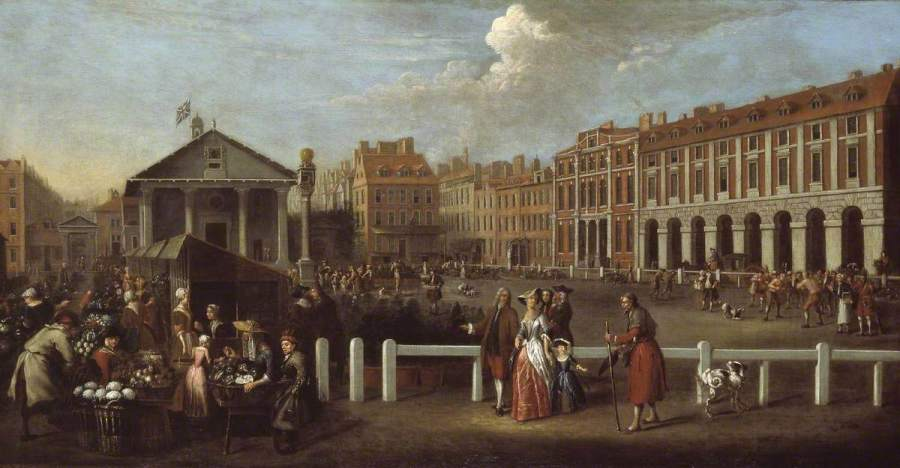 Covent Garden Market by Balthasar Nebot, 1737