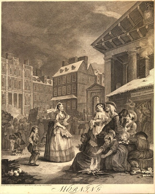 Morning, one of the Four Times of Day series by William Hogarth.