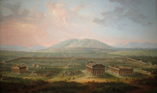 A View of Paestum by Antonio Joli, 1759.