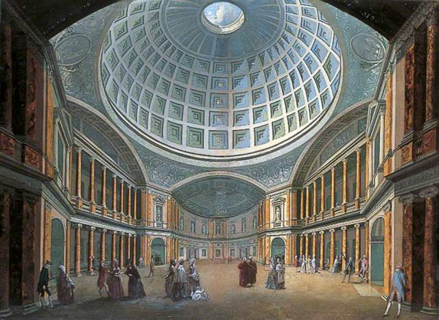 Interior of the Pantheon, Oxford Road, London by William Hodges and William Pars, 1770s; Leeds Museums and Galleries