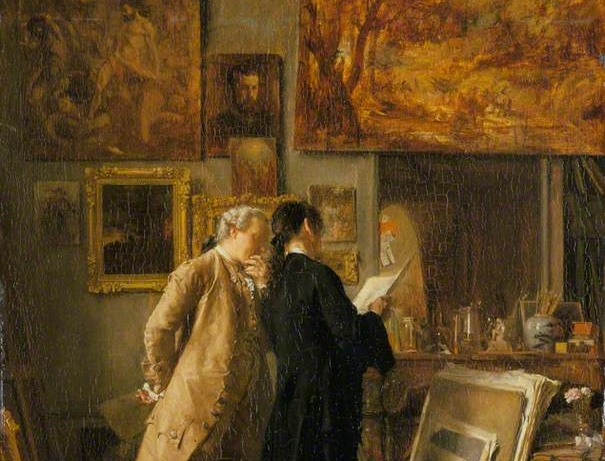 Meissonier, Jean Louis Ernest; An Artist Showing his Work; The Wallace Collection