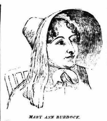 Mary Ann Burdock in court, Bristol Mirror, 18 April 1835