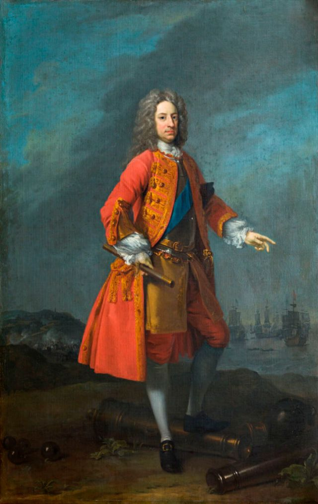 Charles Mordaunt, 3rd Earl of Peterborough (1658-1735) by Charles Jervas (c.1675-1739). Burghley House Collections.