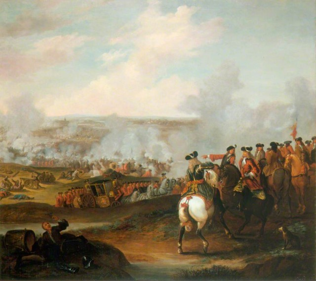 The Battle of Blenheim, 13 August 1704 by John Ross.