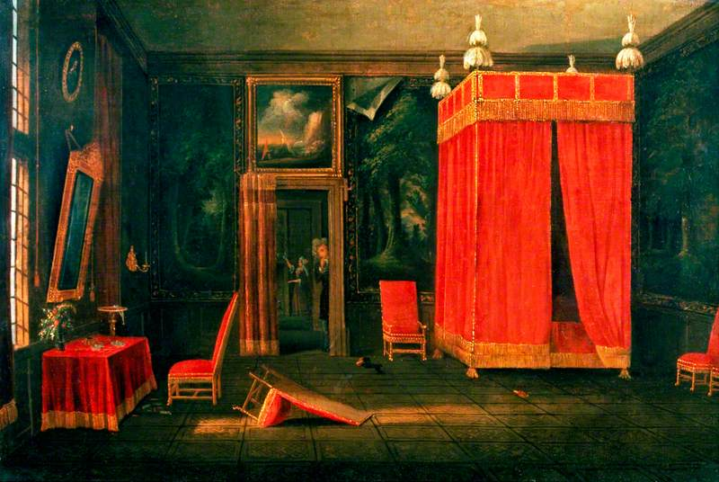 Scene in a Bedchamber; British School, c.1700