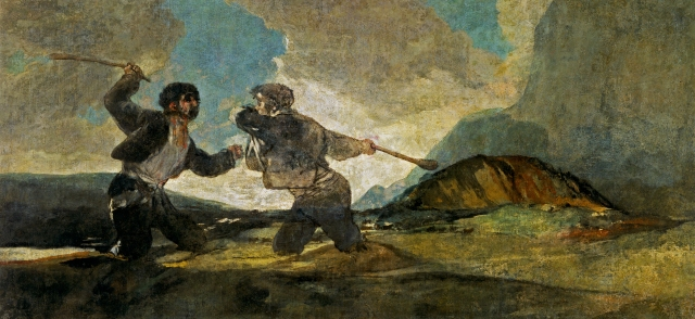 Fight with Cudgels, Francisco de Goya. Prado Museum.