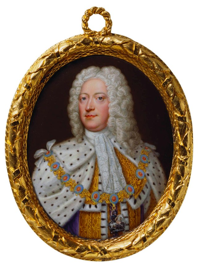 Miniature of George II by Christian Friedrich Zincke, c.1727. Royal Collection Trust.