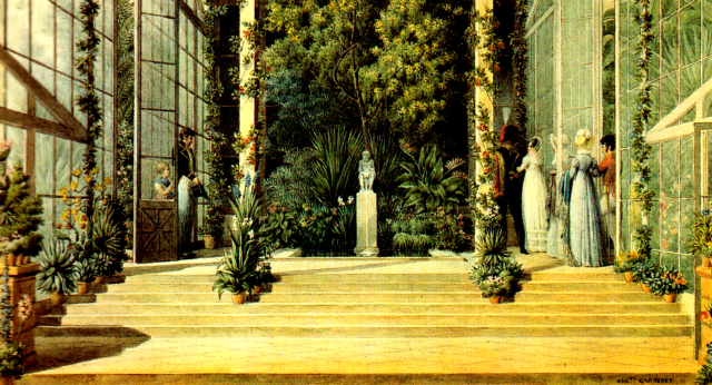 The Great Glasshouse at Malmaison by Auguste-Siméon Garneray. Musées nationaux de Malmaison, France.