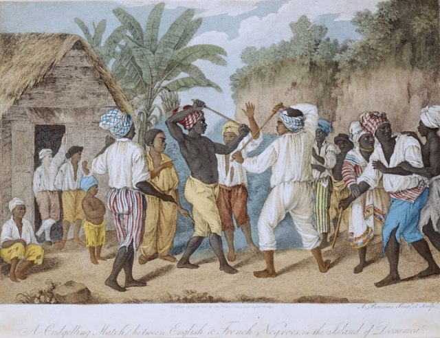 A Cudgelling Match between English and French Negroes in the Island of Dominica. courtesy of the Yale Center for British Art