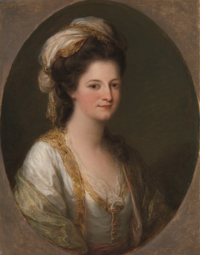 Portrait of a woman, traditionally identified as Lady Hervey by Angelica Kauffmann c1770. Courtesy of Yale Center for British Art