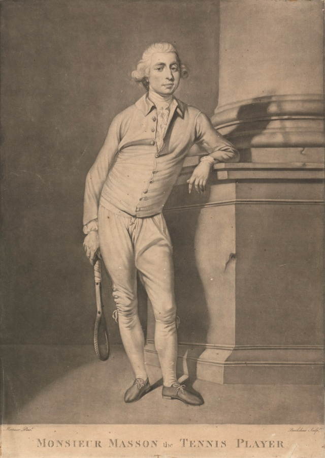 Monsieur Masson, the tennis player. Courtesy of Yale Center for British Art