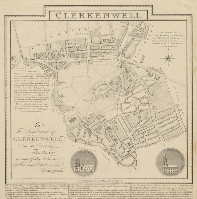 Clerkenwell c1806. Courtesy of Yale Center for British Art