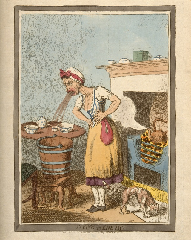 Taking an emetic. Courtesy of Wellcome Library