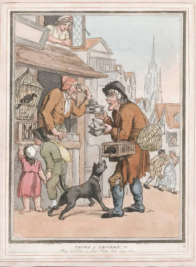 Cries of London: buy a trap, a rat trap, buy my trap. Courtesy of Lewis Walpole Library