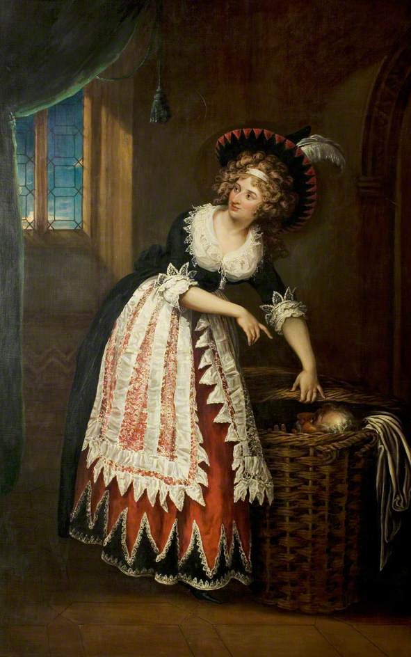 Mary Stephens Wells, née Davies (1762–1829), as Mrs Page (from The Merry Wives of Windsor) by William Hamilton. Royal Shakespeare Company Collection