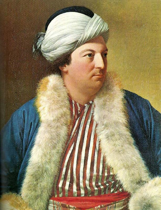 Simon Luttrell of Luttrellstown in Turkish Costume Jean-Étienne Liotard - date unknown. The Athanaeum.