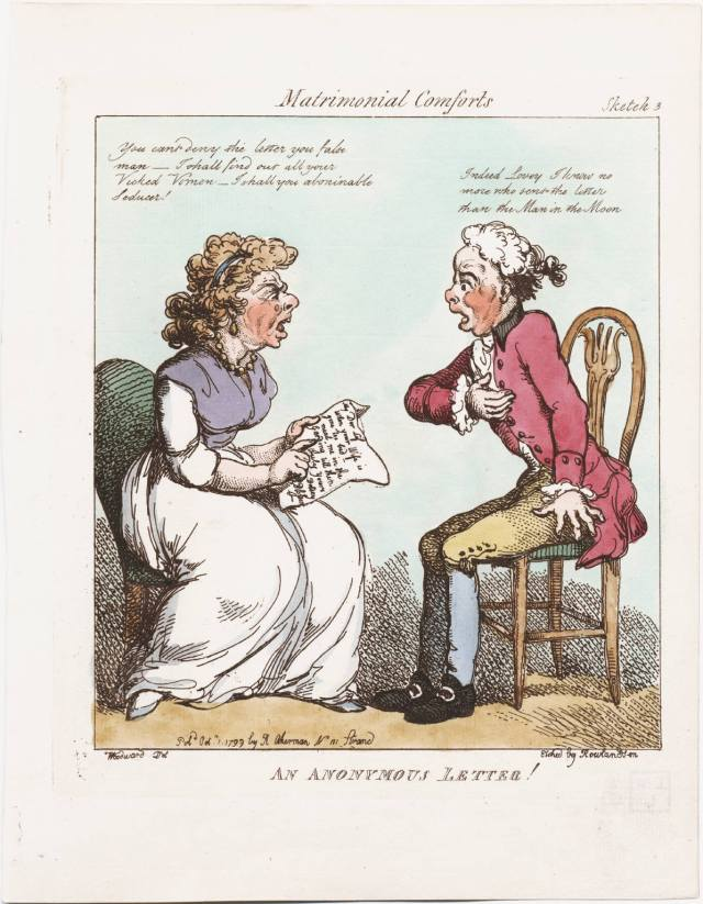 Anonymous Letter by Thomas Rowlandson