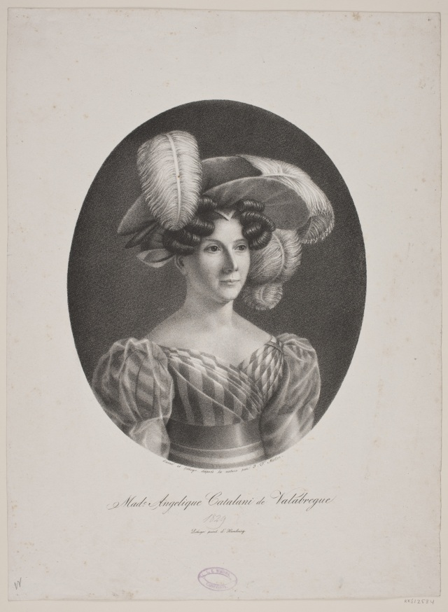 Mme Angelique Catalani de Valabregue, J.F. Moeller (1797-1871). 1829