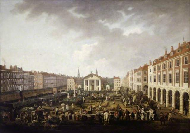 Covent Garden Piazza and Market by John Collet