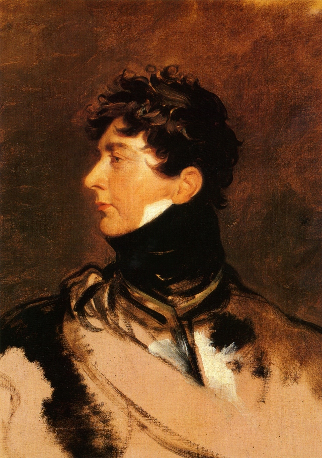George IV when Prince Regent by Sir Thomas Lawrence, 1814.