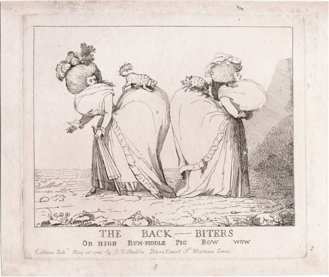 The back-biters, or High bum-fiddle pig bow wow. Courtesy of Lewis Walpole Library