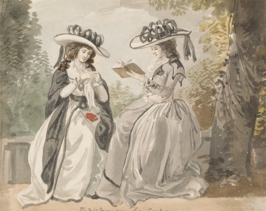 The Misses Van by Lady Salisbury, 1791.