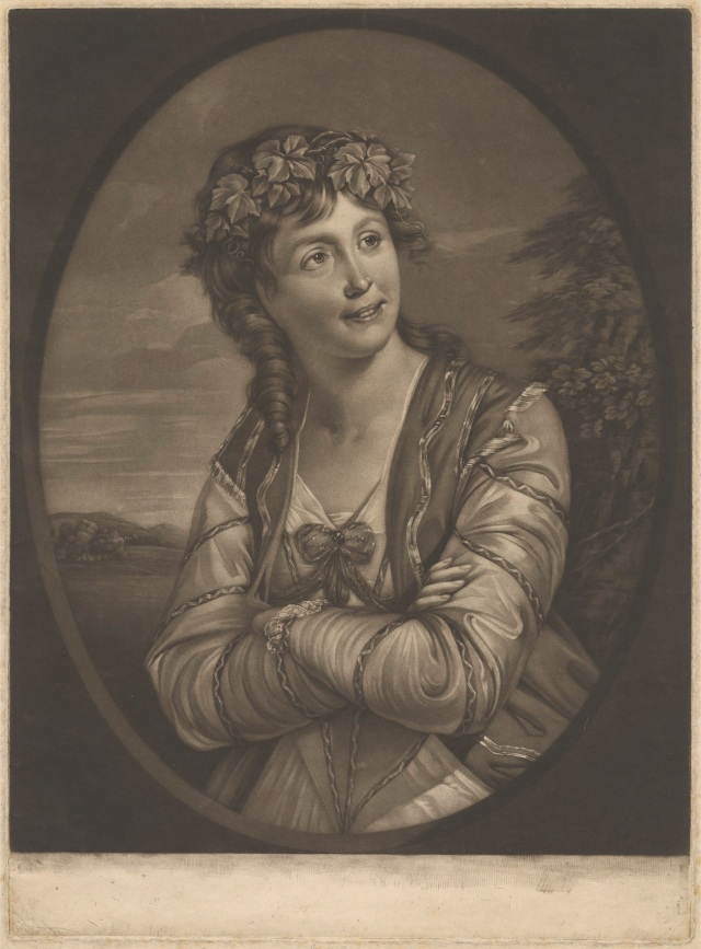Miss Ann Catley in the Character of Euphrosyne, 1777.