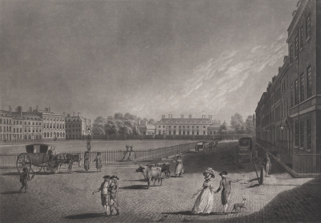 A View of Bloomsbury Square in London, 1787.