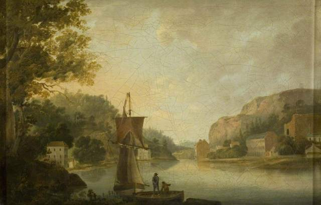 View of the Avon and Hotwells Showing the Foundations for Windsor Terrace by Thomas Leeso Rowbotham