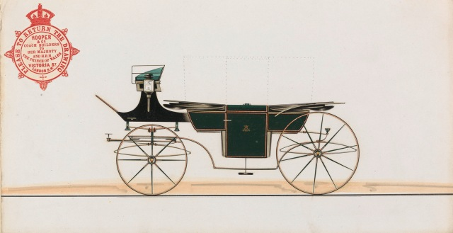 Carriage Design: A Square Landau undated Pen and black ink, watercolor and collage Sheet: 5 1/2 × 10 1/4 inches (14 × 26 cm) Yale Center for British Art, Paul Mellon Collection