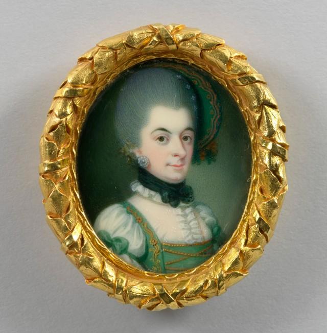 Princess Christiane of Mecklenburg-Strelitz; German school c.1775.