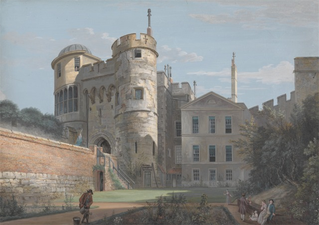 The Norman Gate and Deputy Governor's House, Windsor Castle; Paul Sandby
