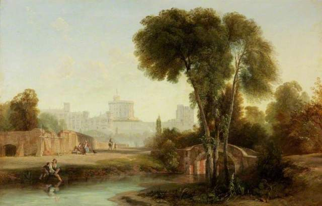 Windsor Castle from the Old Bridge; Augustus Wall Callcott