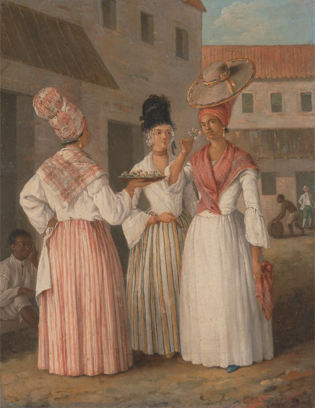 A West Indian Flower Girl and Two other Free Women of Color, c.1769.