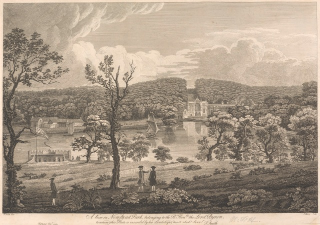 A View in Newstead Park, belonging to the Rt. Hon. Lord Byron. Print by James Mason. Yale Center for British Art