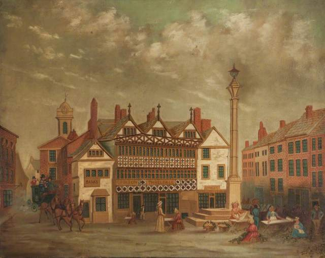 Preston Market Place, 1820; unknown artist; Harris Museum & Art Gallery